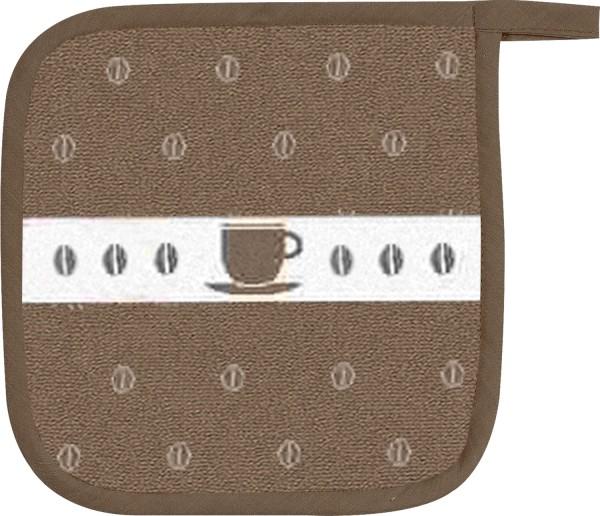 Topflappen Baumwolle Motiv: Kaffeebohnen