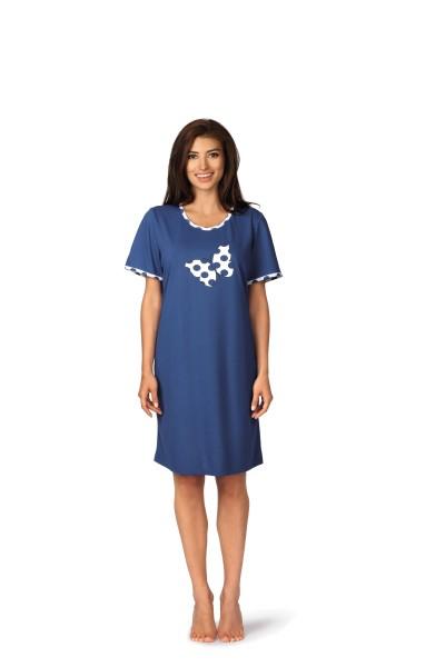 Damen Nachthemd 191227 blau
