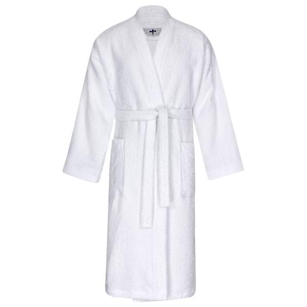Sauna-Bademantel Kimono in weiß 179