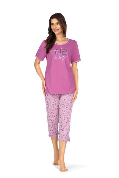 Damen Schlafanzug 211332/36 blau/rosa