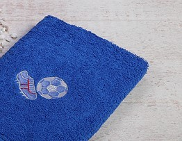 Stickerei Fußball royal verschiedene Größen