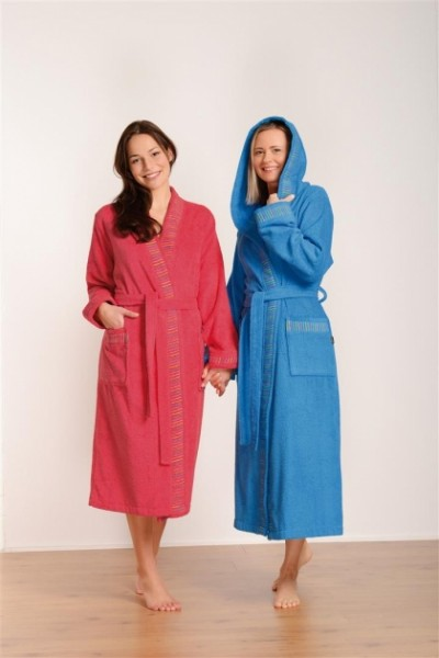 Damen Kimono pink 4048 Größe 3XL