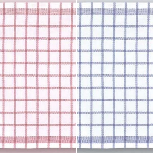 Geschirrtuch Halbleinen kariert verschiedene Farben