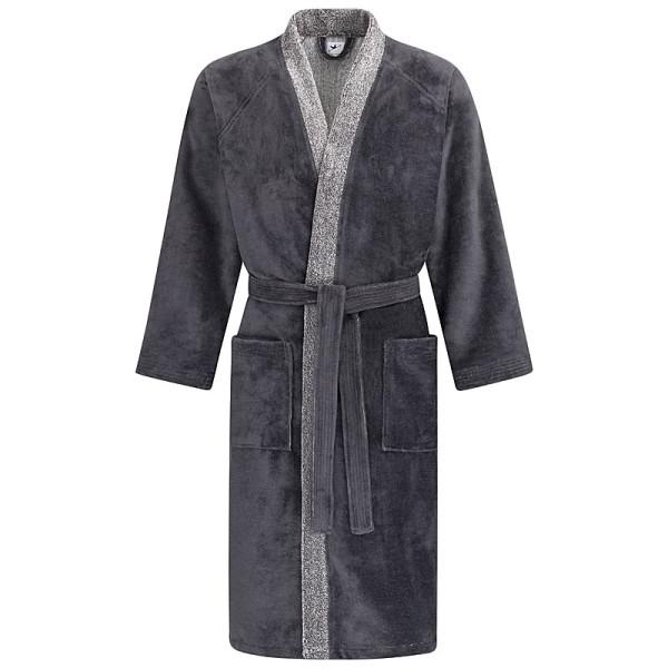 Bademantel Kimono schiefer meliert 590
