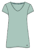 Damen Sleepshirt 671-00 grün
