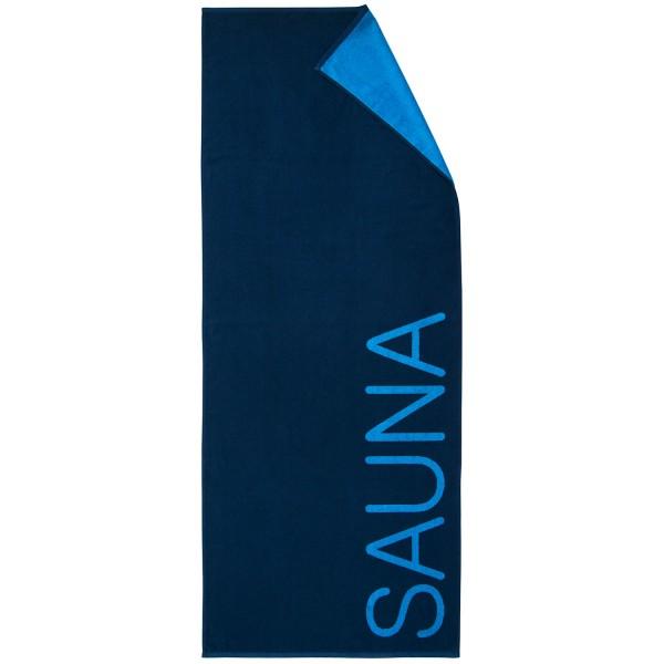"""Saunatuch """"Sauna"""" in der Farbe blau 80x200cm"""