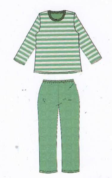 Damen Frottee Schlafanzug 192141 gestreift Gr. 40